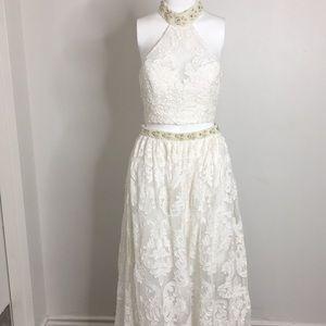Sherri Hill 2 piece lace dress
